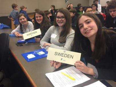 GPS Middle School students at the YMCA's Middle School Model United Nations conference