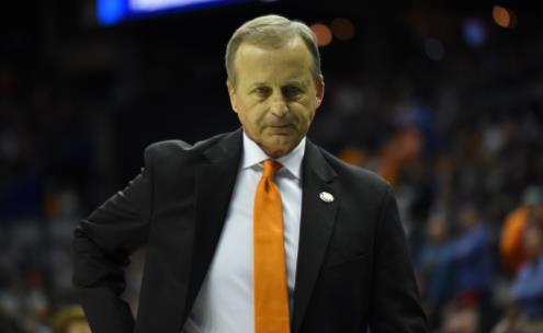 Coach Rick Barnes just after the Iowa win