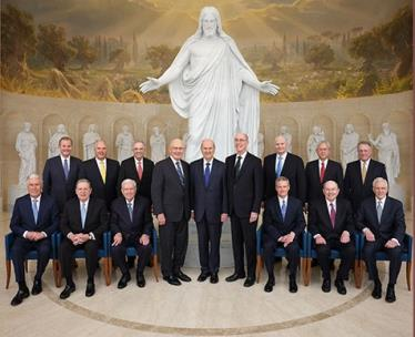 Church of Jesus Christ of Latter-Day Saints 15 apostles were gathered for the dedication of the Rome Italy Temple