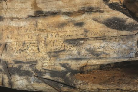 Cherokee inscriptions found in Manitou Cave, Al.