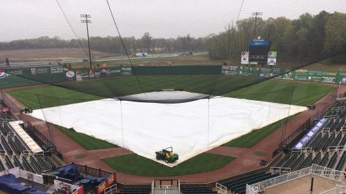 The Ball Park at Jackson was in no condition for a game Saturday evening.