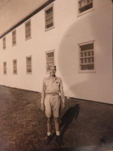 Wayne Shearer at San Antonio barracks in October 1943