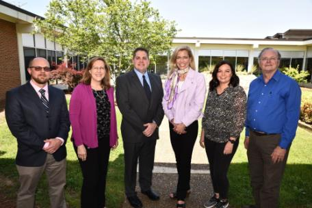 From left, Chattanooga State Excellence Award winners: Jacob Stanford, Amy Campbell, Mike Mercer, Dr. Rebecca Ashford, Chattanooga State president; Kirsten Jones, and Richard Clements