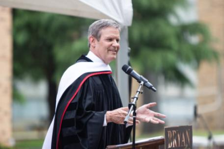 Governor Bill Lee at the Bryan Commencement