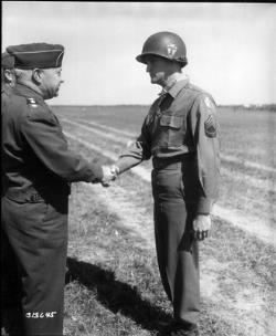 Charles Coolidge is presented the Medal of Honor