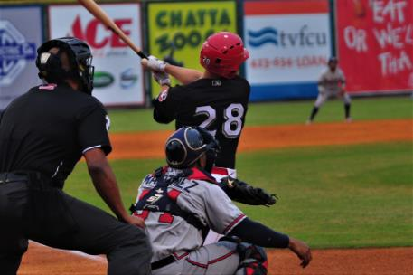 While serving as the Lookouts' designated hitter, Brantley Bell had two hits for Chattanooga.