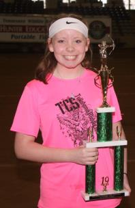 Ashley Scott, who was the overall top female shooter at Tennessee NASP State Championships, won first place in the Middle School Division at the NASP National Championships.
