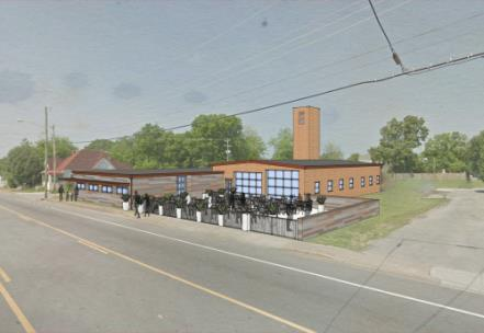 Rendering of the new home for La Paz Chattanooga at 809 South Willow St.