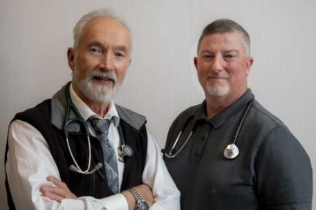 Lawrence Swan, M.D., (L) and Harrison Sims, III, M.D. (R) join CHI Memorial Medical Group