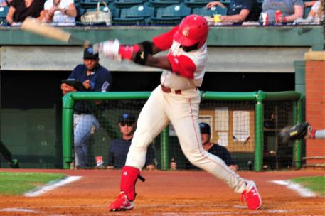 Taylor Trammell's ground-rule double drove in the Lookouts only run in a 4-1 loss.