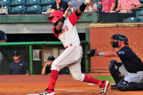 Chattanooga shortstop Alfredo Rodriguez had a big night at the plate Saturday going 4-for-7 in the double header.