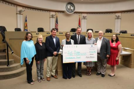 The city of East Ridge a $2,000 environmental grant from Tennessee American Water