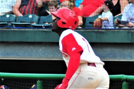 Taylor Trammell had huge day at the plate for the Lookouts going 3-for-4, including hitting a triple (his third of the season).