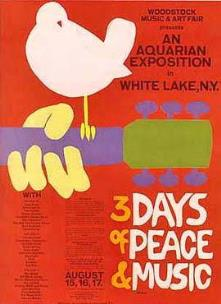 1969 Woodstock promotional poster