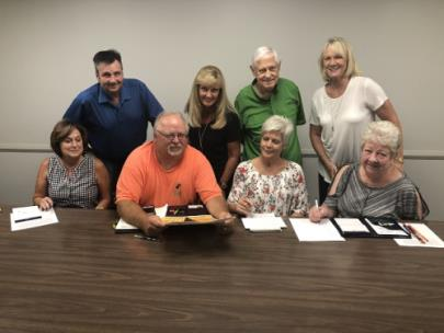 Soddy-Daisy 50th Anniversary Celebration Planning Committee Members are pictured: seated, left to right, are Sara Burris, William Shadwick, Kathy Jones and Janice Cagle; standing, left to right, are Kelly Flemings, Marquita Brackett, William Loftis and Bridgett Raper.