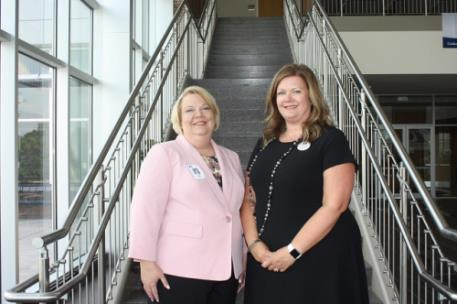Selena Magnusson (right) of Chickamauga is the new vice president of Institutional Effectiveness and Student Success at GNTC and Melissa (Lisa) Shaw (left) of Chatsworth is GNTC's new vice president of Adult Education
