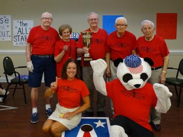 Morning Pointe of Chattanooga All-Stars team emerged triumphant for the third year in a row in the senior living community's third annual cornhole tournament.