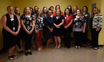 Members of the new Chattanooga Women's Leadership Institute Game ChangeHer, an immersive mentor training program