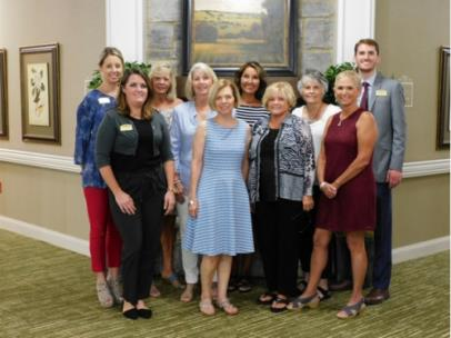 From left, Robin Smith, Leigha King, Kathy Leff, Amanda Gentry, Anne Rankin, Debbi Meyers, Patsy Henry, Judy Bryant, Jerrie Gaither and Jonathan Lowery