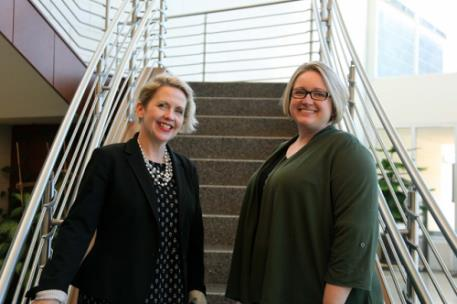 As a new year gets underway at GNTC two new administrators, Lauretta Hannon (left), director of Institutional Advancement, and Jennifer Loudermilk, associate vice president of Academic Affairs, have come aboard to oversee Academic Affairs at the college as well as its Foundation