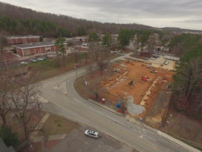 Cleveland State Community College's Health and Science Center is currently under construction at the corner of Norman Chapel Road and Adkisson Drive on the college's campus. The CSCC Health and Science Center is set to open in Spring 2021.