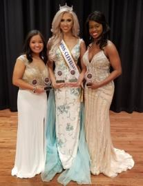 University of Tennessee at Knoxville junior Marti Sullivan was selected as the first Miss Cleveland Volunteer on Sunday afternoon at Cleveland State Community College. From left, First Runner-Up Jasmine Ngo, Miss Cleveland Volunteer 2020 Marti Sullivan and Second Runner-Up Ciara Warren.