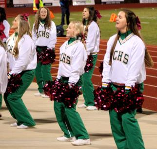 Rhea County cheerleaders