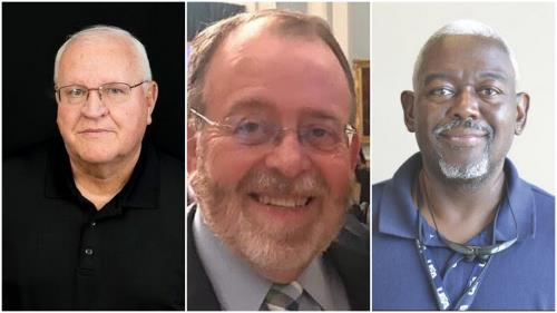 (Left to right) George Starr of Lee University, The Tennesseans' Larry Taft and Maurice Patton of the Tennessean/Columbia Daily Herald, have been selected as members of the Tennessee Sports Writers Association Hall of fame for 2021.