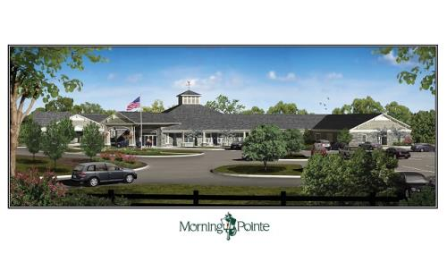 An architect's rendering of the completed Morning Pointe of Hardin Valley building