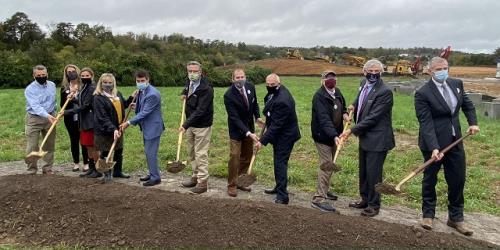 Morning Pointe Senior Living leadership and local Knox County dignitaries break ground on the new Morning Pointe of Hardin Valley assisted living and Alzheimer's memory care community