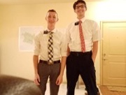 Pictured, left to right, are Elder Crook and Elder Maughan