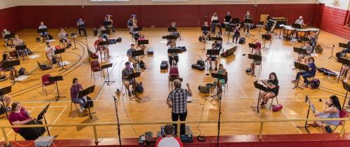 Lee University Symphonic Band rehearsal