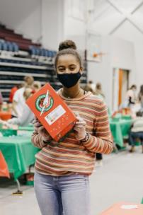 Lee students gathered to pack shoeboxes for Operation Christmas Child