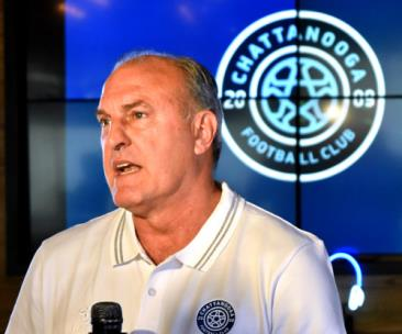 CFC head coach Peter Fuller talks about the upcoming season during Monday's Media Day.