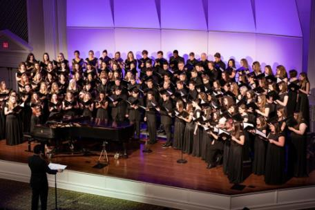 The Lee University's Chorale and Choral Union joint concert in 2019