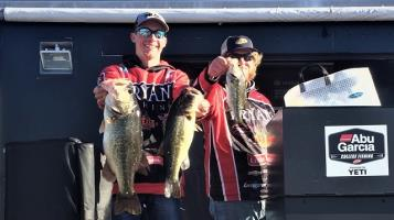 Bryan College's Ethan Shaw and Thad Simerly score an 8th-place individual finish at the FLW Southeastern Conference tournament on Lake Seminole in Bainbridge, Ga.