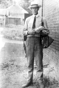 My dad, Woodfin B. Martin, in his official summer uniform as a Letter Carrier in East Lake, about 1917