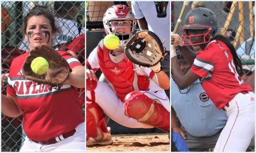 Baylor senior softball players, left to right, Macy Ann McKnight, Sophie Piskos, and Makayla Packer are part of a winning tradition.