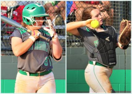 East Hamilton's Syvana Rogers excels at bat and behind the plate for the Lady Hurricanes.