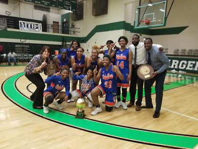 Chattanooga State Lady Tigers, Regional VII Champions, celebrated their win on March 3 with coaches Stacey Franklin, Kelvin Clay and Xavier Marshall, just before the pandemic cut short their chance at an NJCAA title.