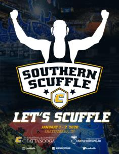 Award winning program cover for Southern Scuffle wrestling tournament.