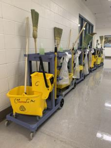 Pod cleaning carts
