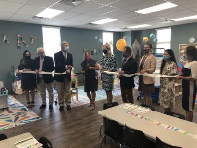 The ribbon cutting for the Helen Ross McNabb Center Therapeutic Preschool program