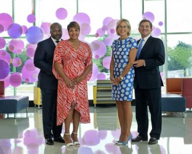 The 2021 Believe Bash co-chairs are (left to right) Dr. Bryan Johnson, Candy Johnson, Mary Kilbride and Bill Kilbride