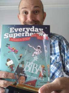 Joshua Sneideman and his book, Everyday Superheroes