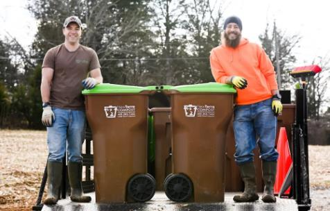 Normand Lavoie, left, and Michael Ryan created NewTerra Composting a few months ago