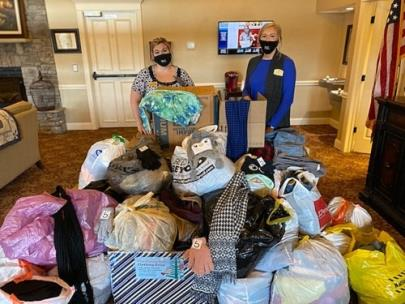 Morning Pointe Giving Tree clothing drive