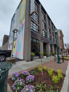 A new mural by local artists Alecia Vera Buckles and Briah Gober is on the Kinley Hotel in Chattanooga's Southside