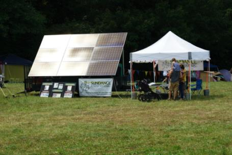 Independent solar vendor at Get Off the Grid