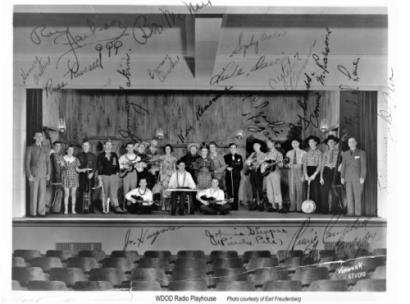 WDOD Radio Playhouse. This old photo is signed by Archie Campbell in the lower right-hand corner.
